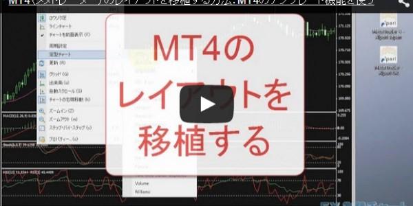 MT4のレイアウトを移植する方法