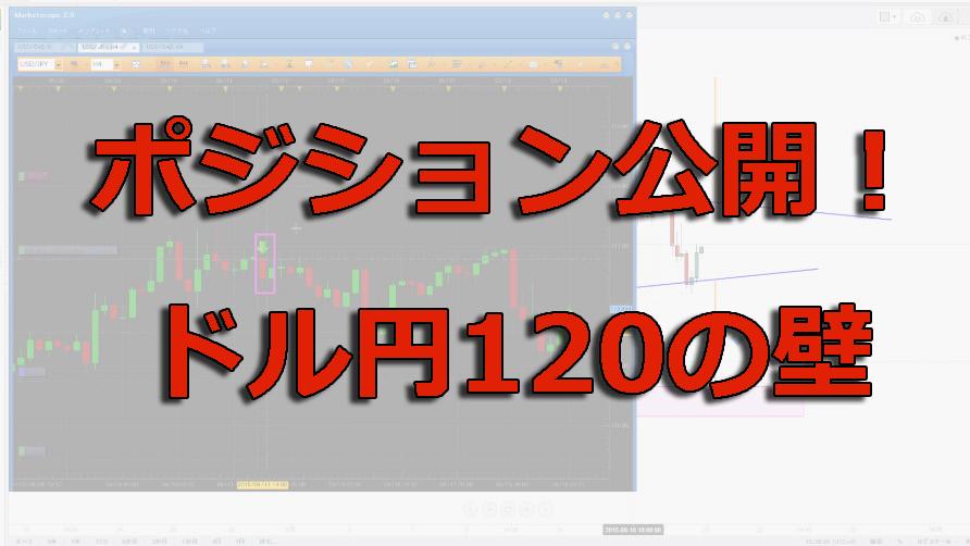 私のポジションと戦略|ドル円は120円の壁を使う