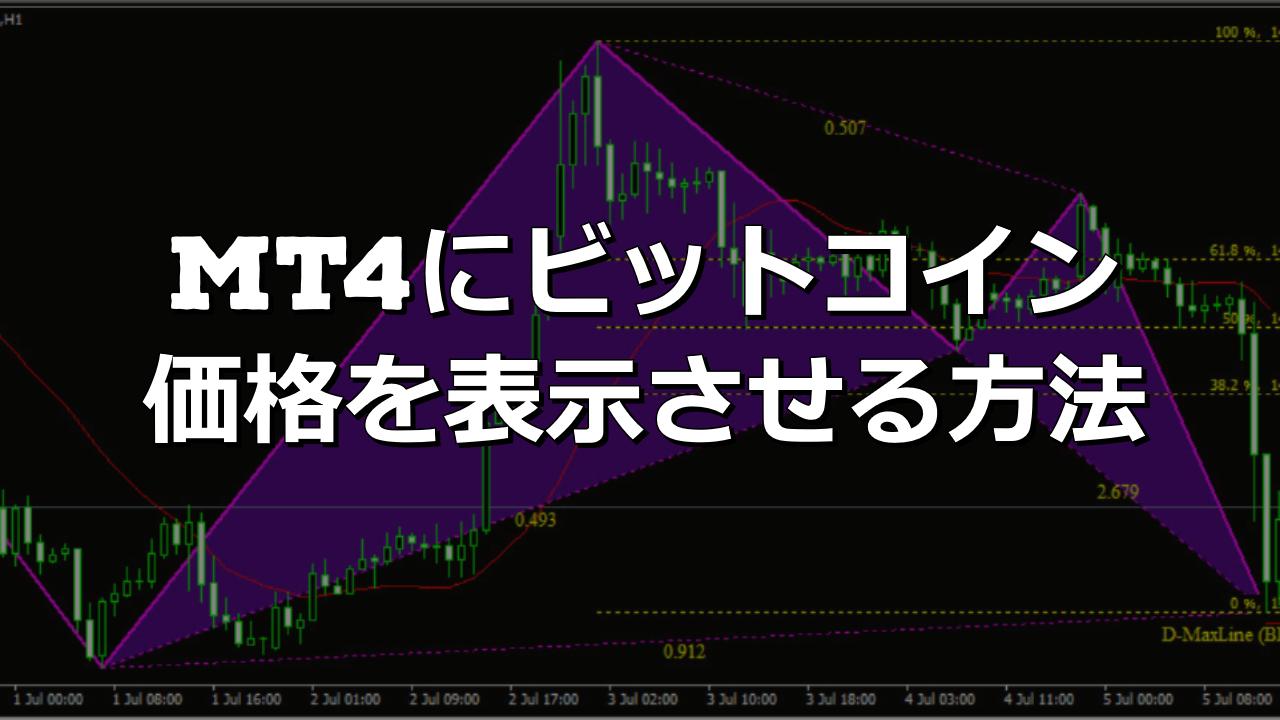 MT4にビットコイン価格を表示させる方法