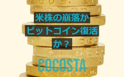 米株の崩落かビットコイン復活か